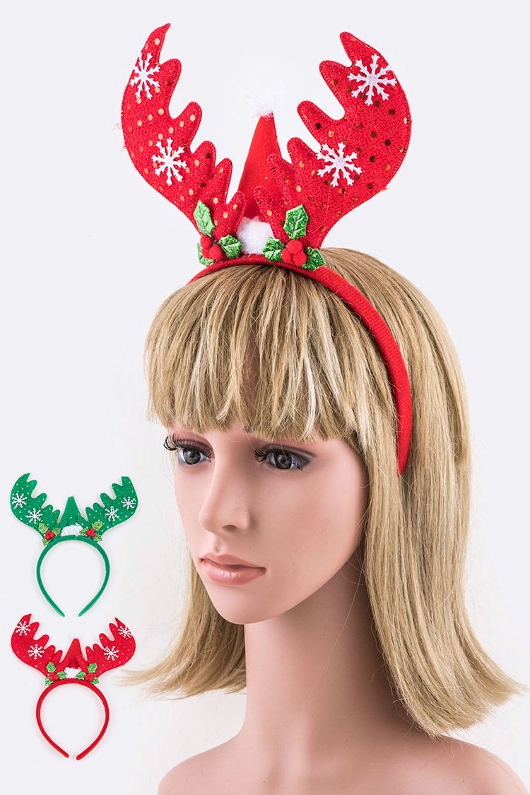 Antlers Holiday Headband
