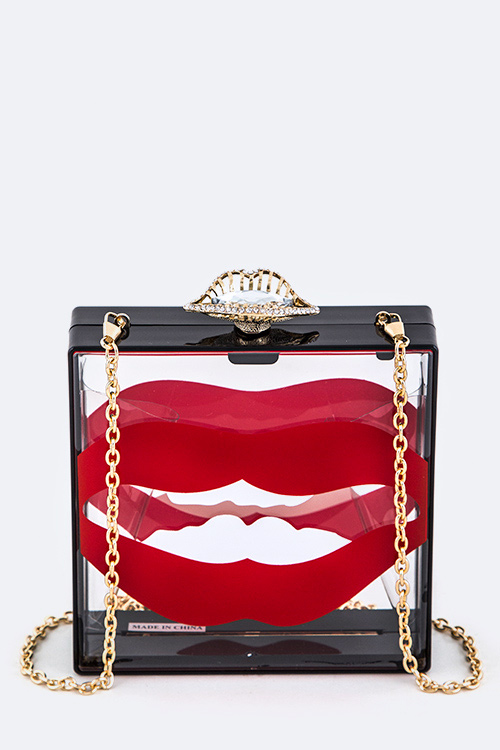 Big Mouth Iconic Clear Box Clutch
