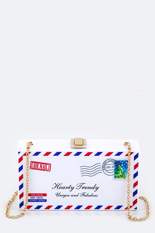 Aia Mail Envelope Iconic Box Clutch