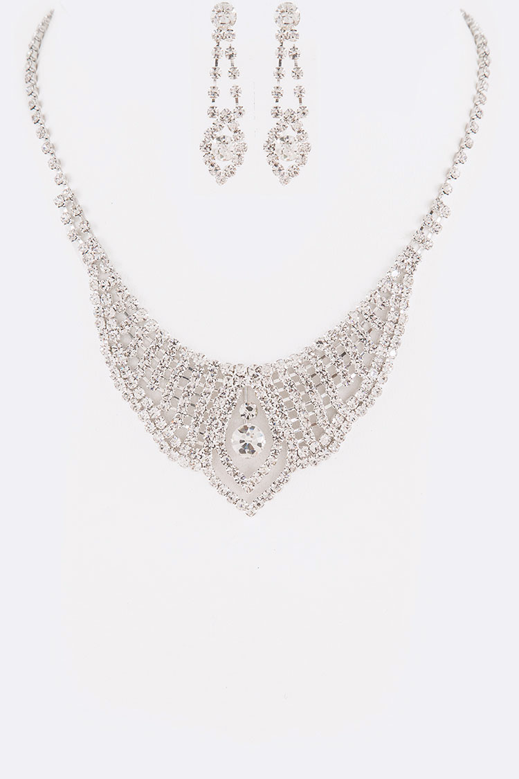 Rhinestone Iconic Necklace Set