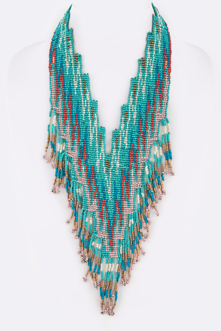 Layer Beads Tribal Necklace