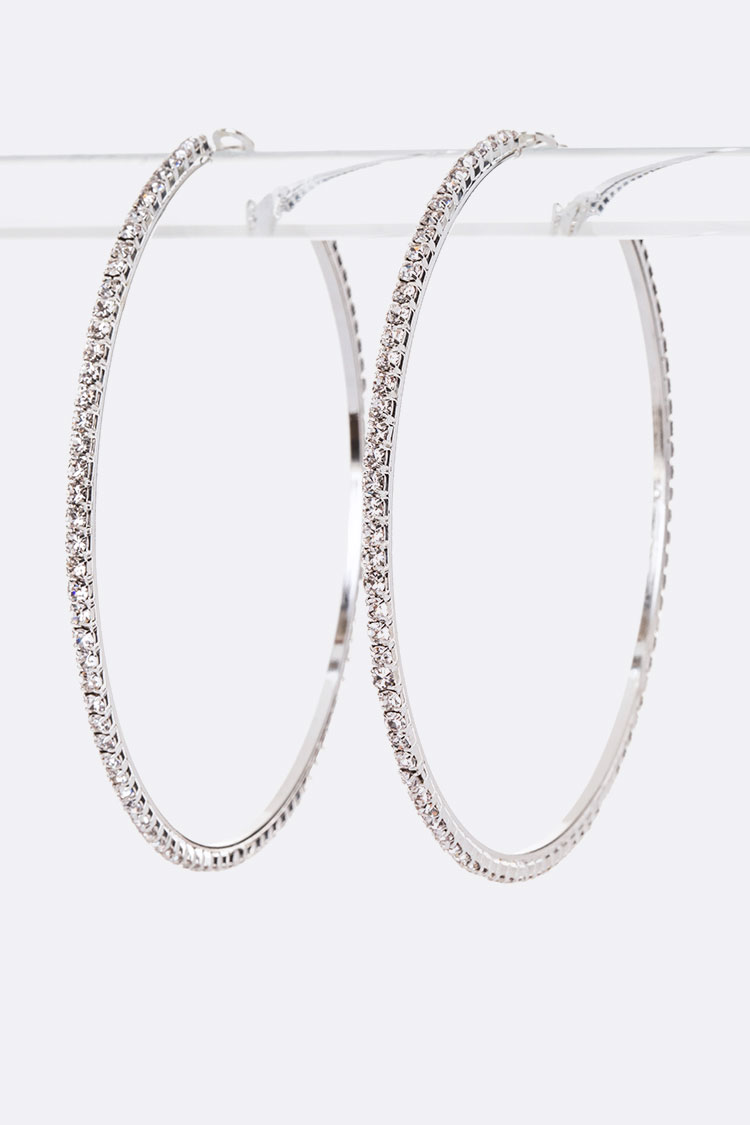 80MM Rhinestone Hoops