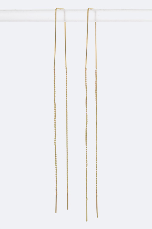 Long Chain Pull Through Earrings