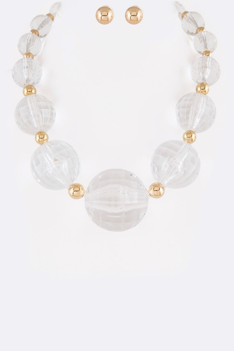 Jumbo Acrylic Ball Necklace Set