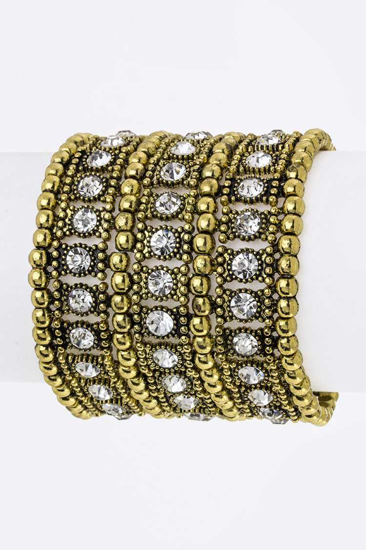 Crystal Stretch Statement Bracelet