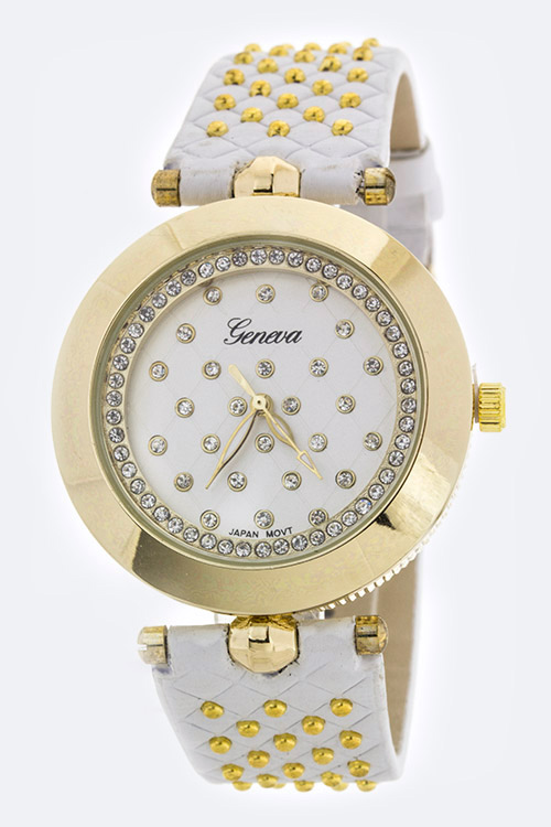 Paved Crystals Fashion Watch