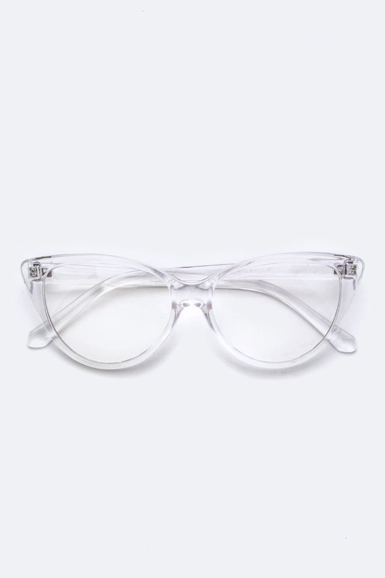 34d65c53ee8 Clear Cat Eye Optical Glasses