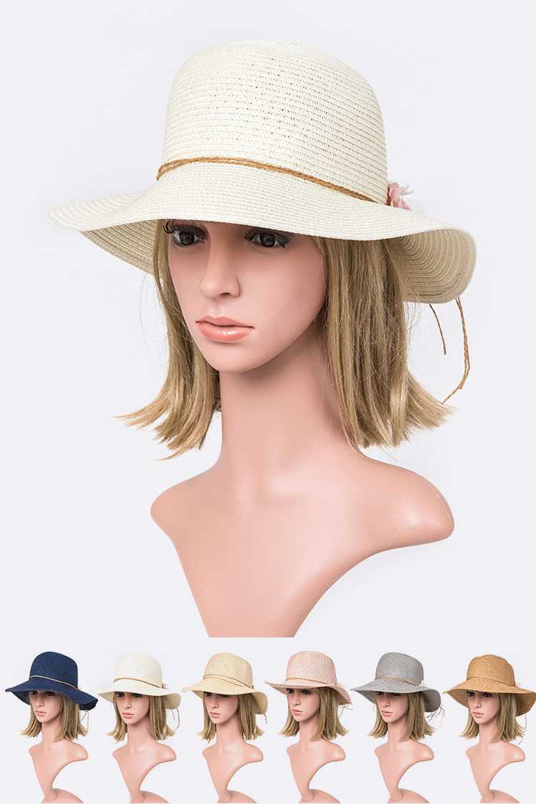 Double Flower Straw Hat