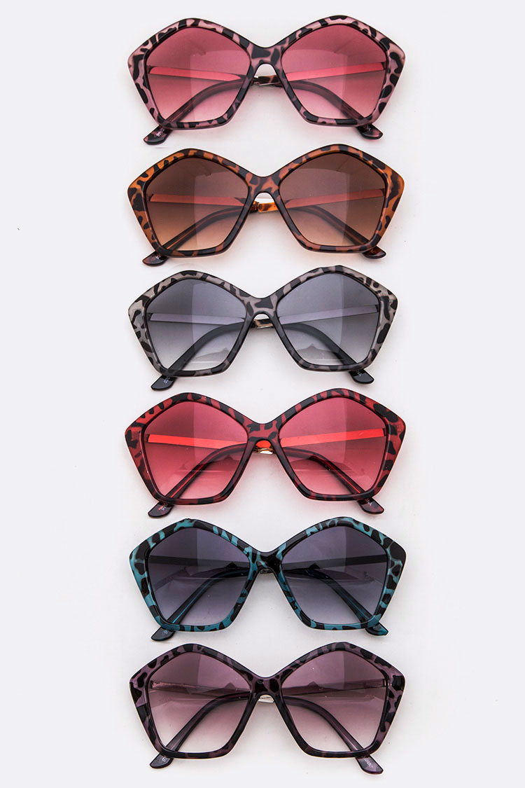 Animal Print Iconic Oversize Sunglasses Set