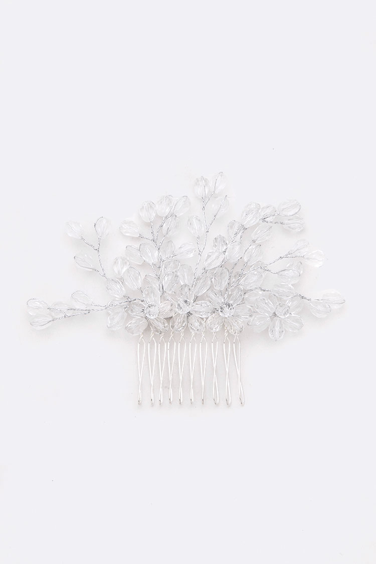 Wired Beads Head Piece Comb