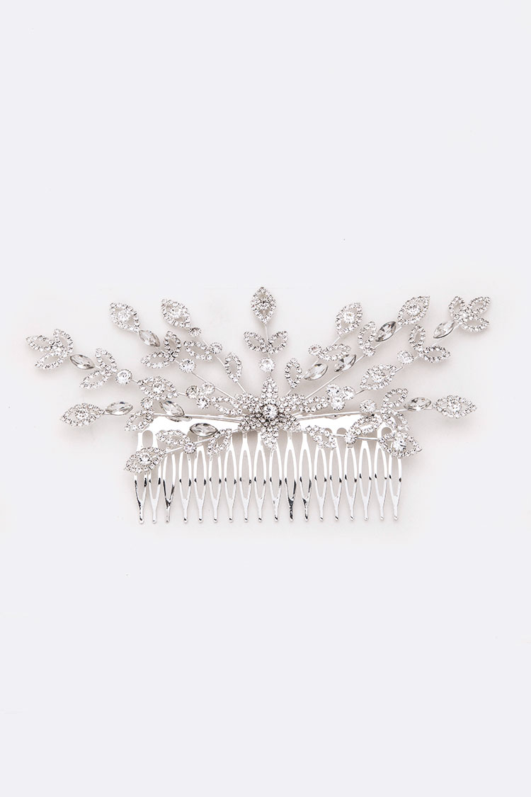 Crystal Statement Large Head Piece Comb