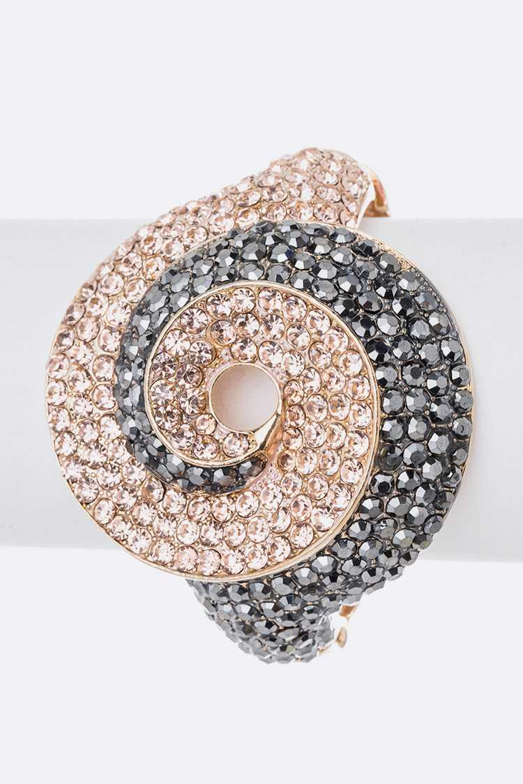Crystal Swirl Iconic Bangle
