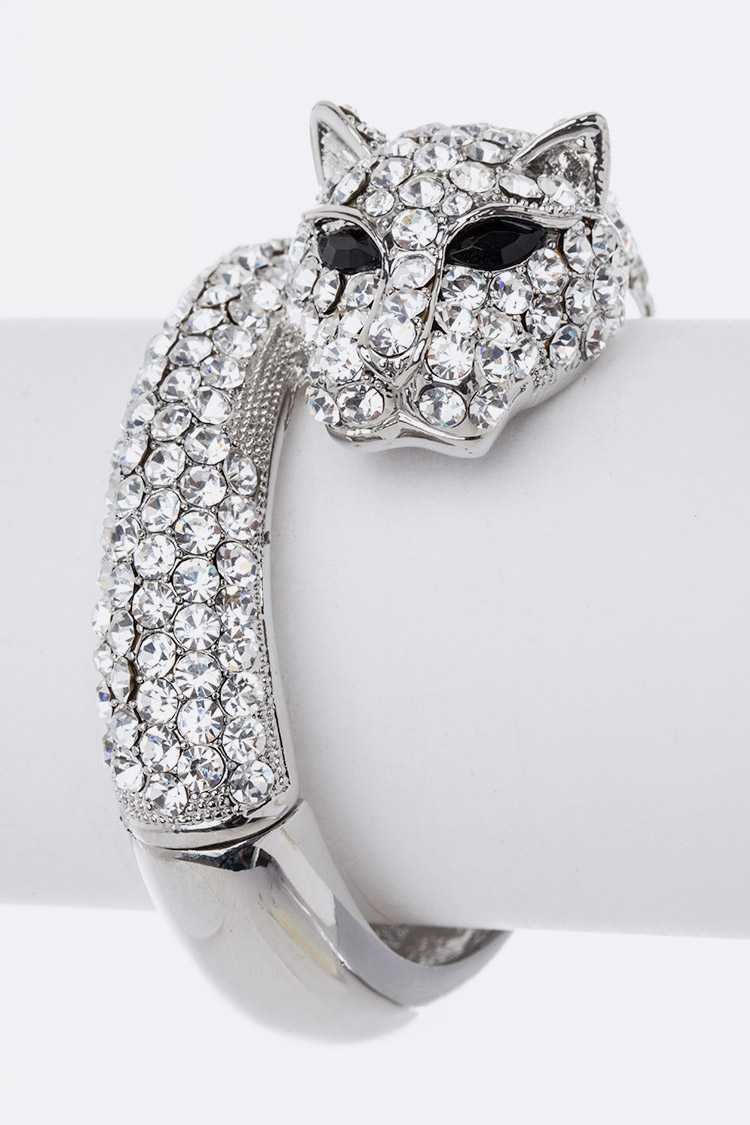Cheetah Crystal Iconic Bangle