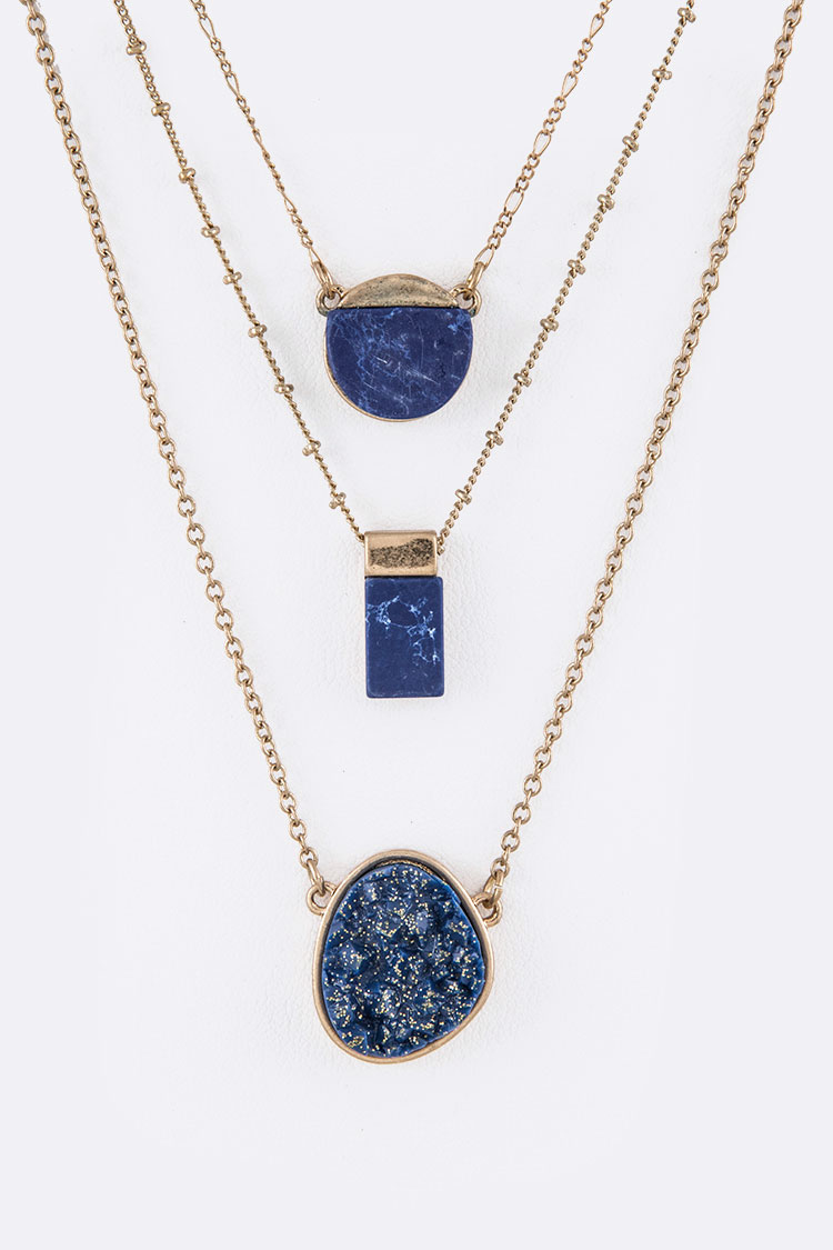 Tanzanite Layer Necklace