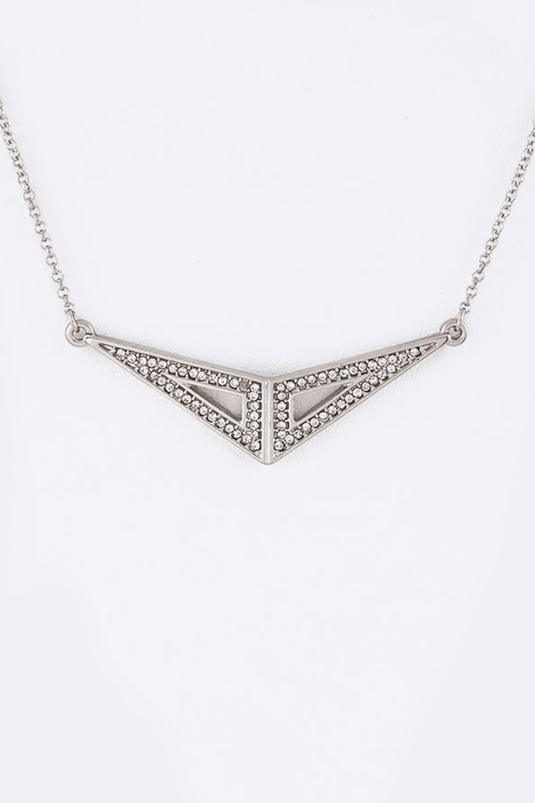 Crystal Iconic Pendant Necklace