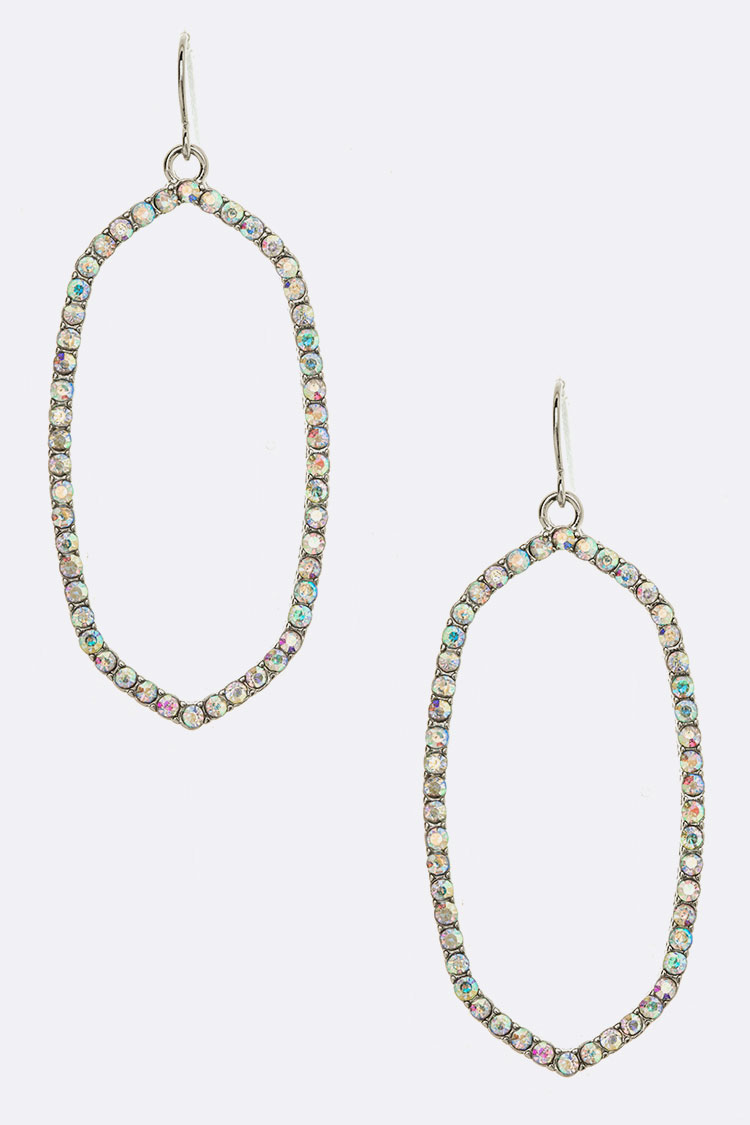 Crystal Iconic Drop Earrings