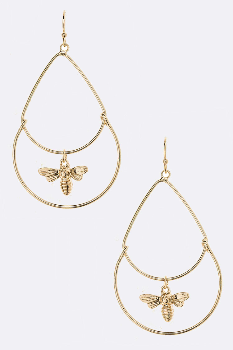 Iconic Bee Drop Dangle Earrings