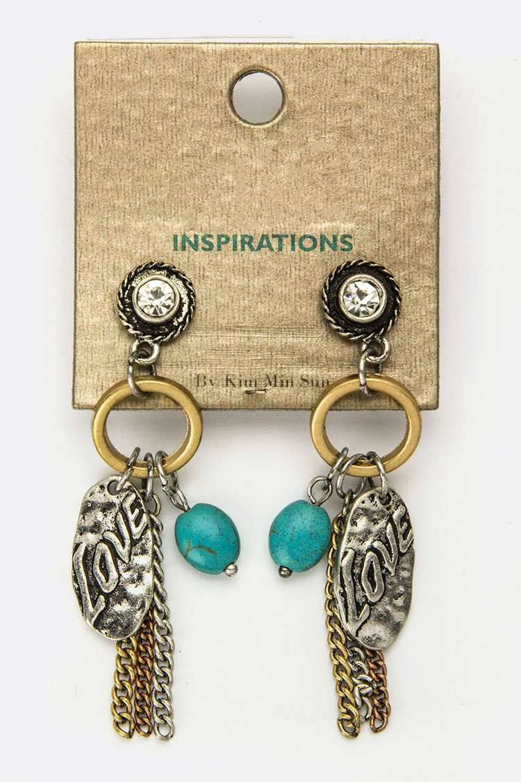Love Mix Charm Earrings