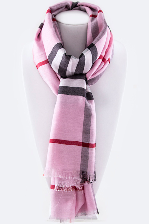 Mad For Plaid Light Weight Fashion Scarf