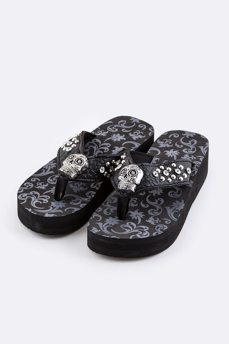 Sugar Skull Fashion FlipFlop