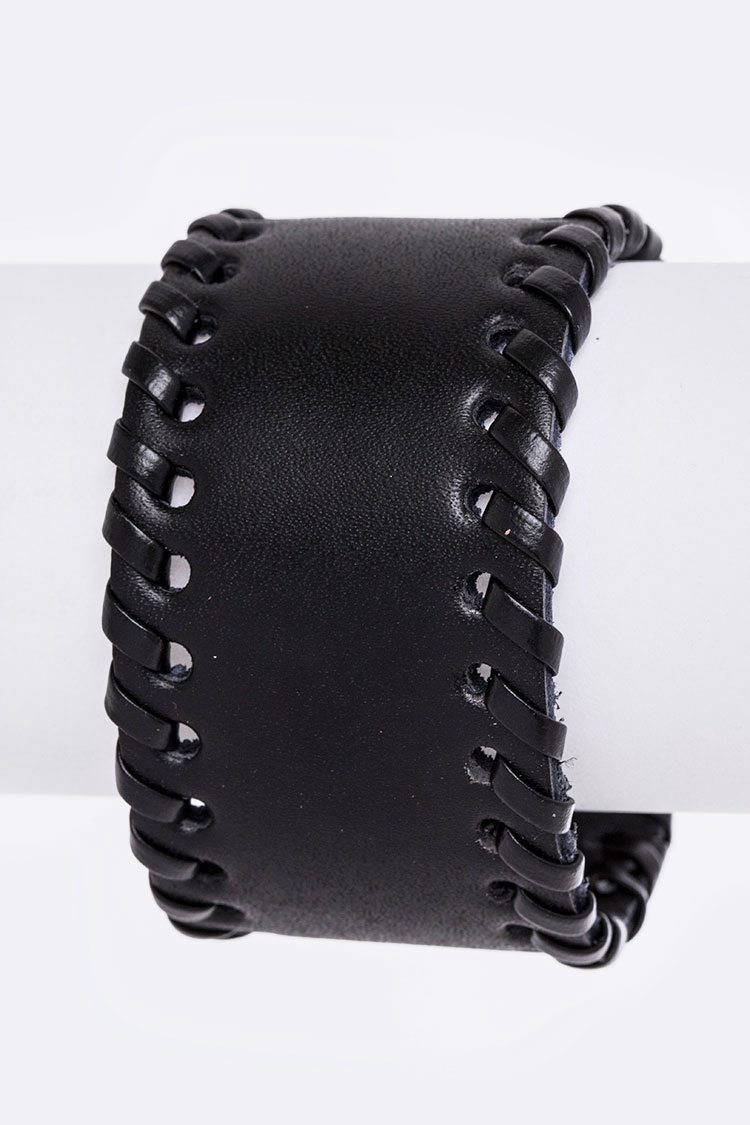 Laced Leather Cuff