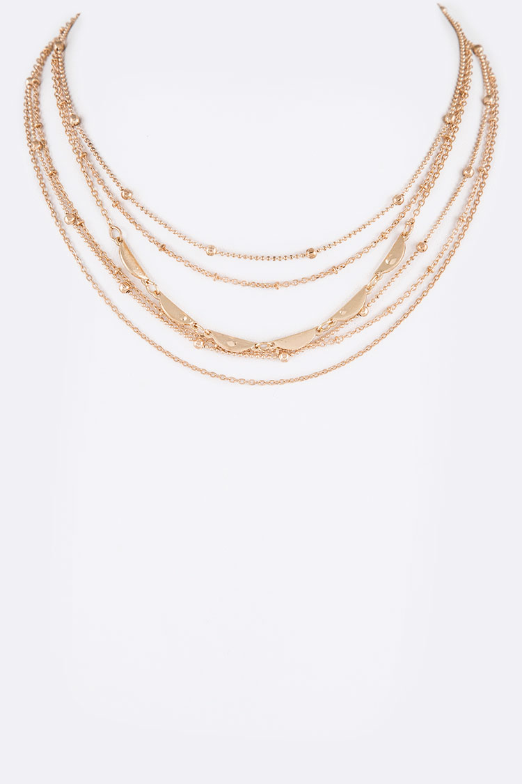 Mix Chain Layered Necklace