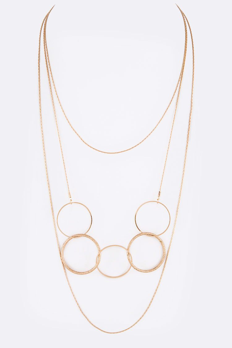 Mix Hoop Chain Layered Necklace