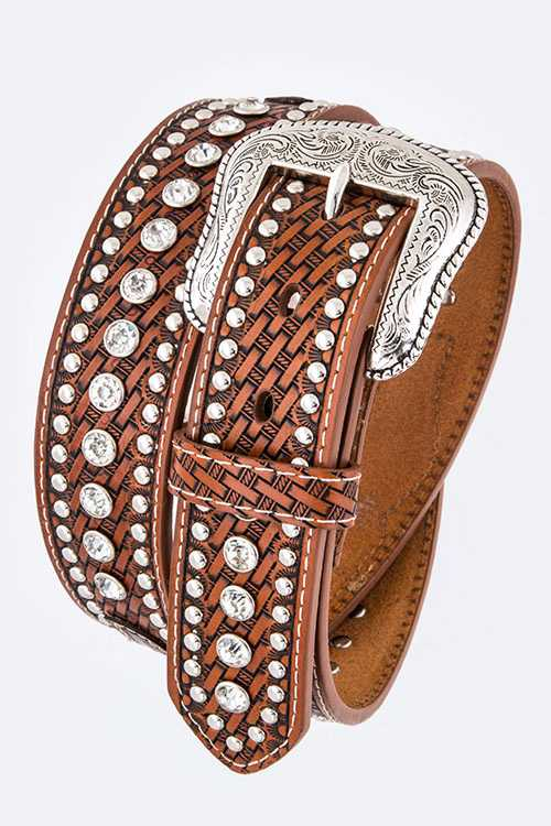 Star Concho & Mix Studs Belt