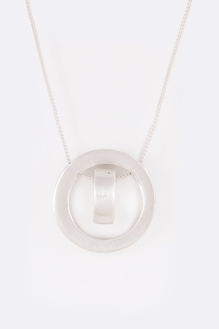 Metal Slider Iconic Pendant Necklace