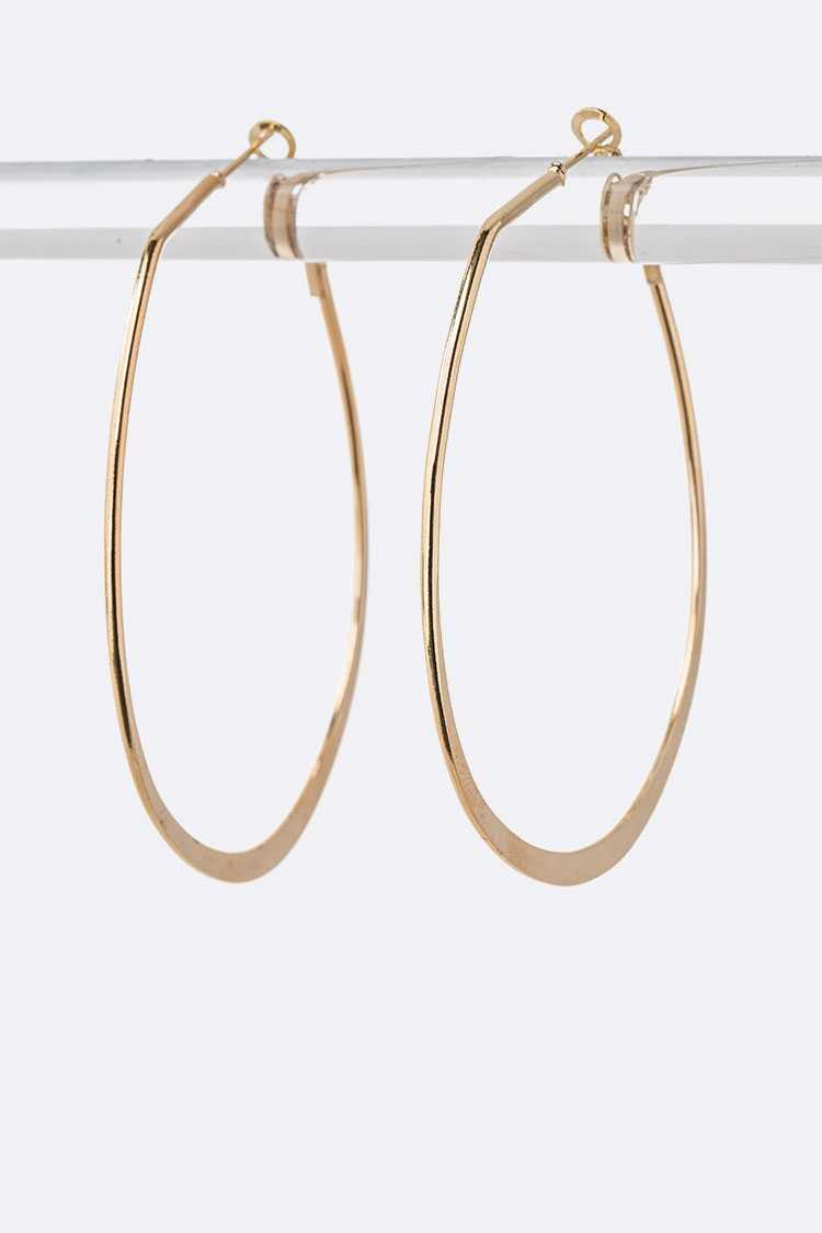 70 MM Oval Hoop Earrings