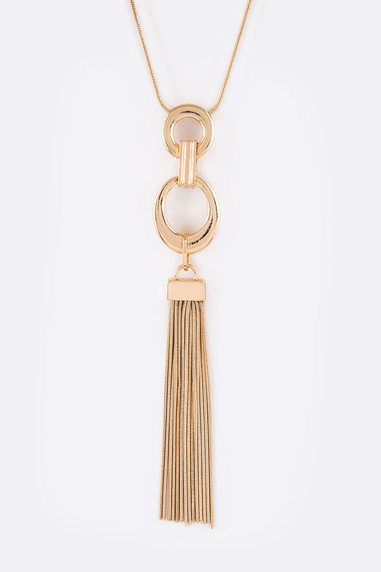 Gold Chain Pendant Long Necklace