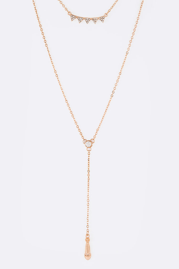 Dainty Crystalized Layer Necklace