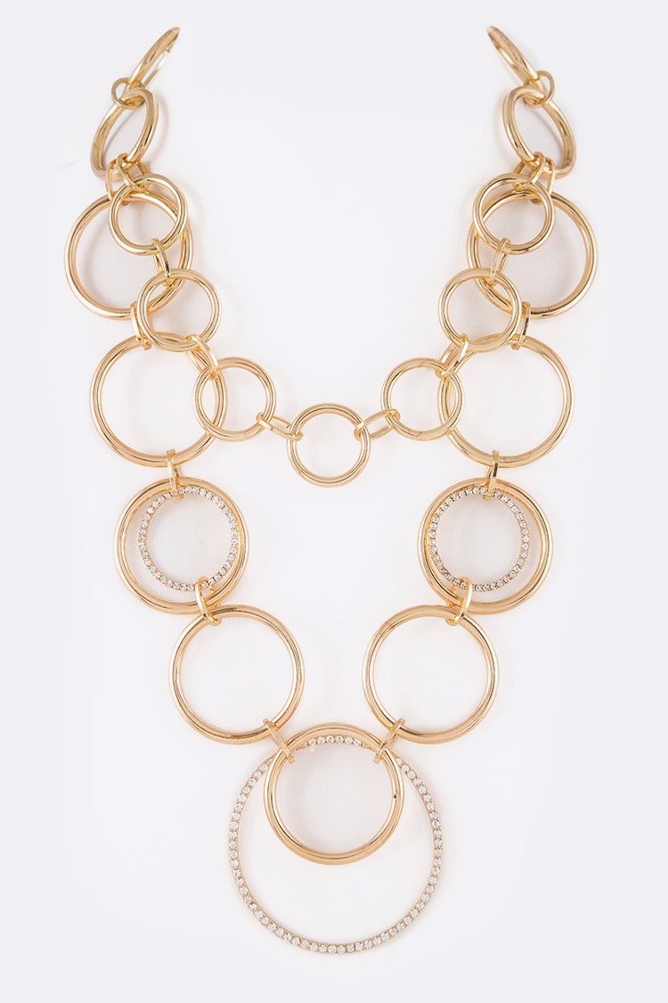 Pre-Layered Mix Hoop Necklace