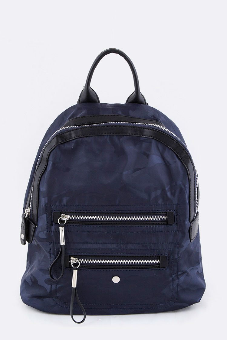 Camouflage Print Nylon Backpack