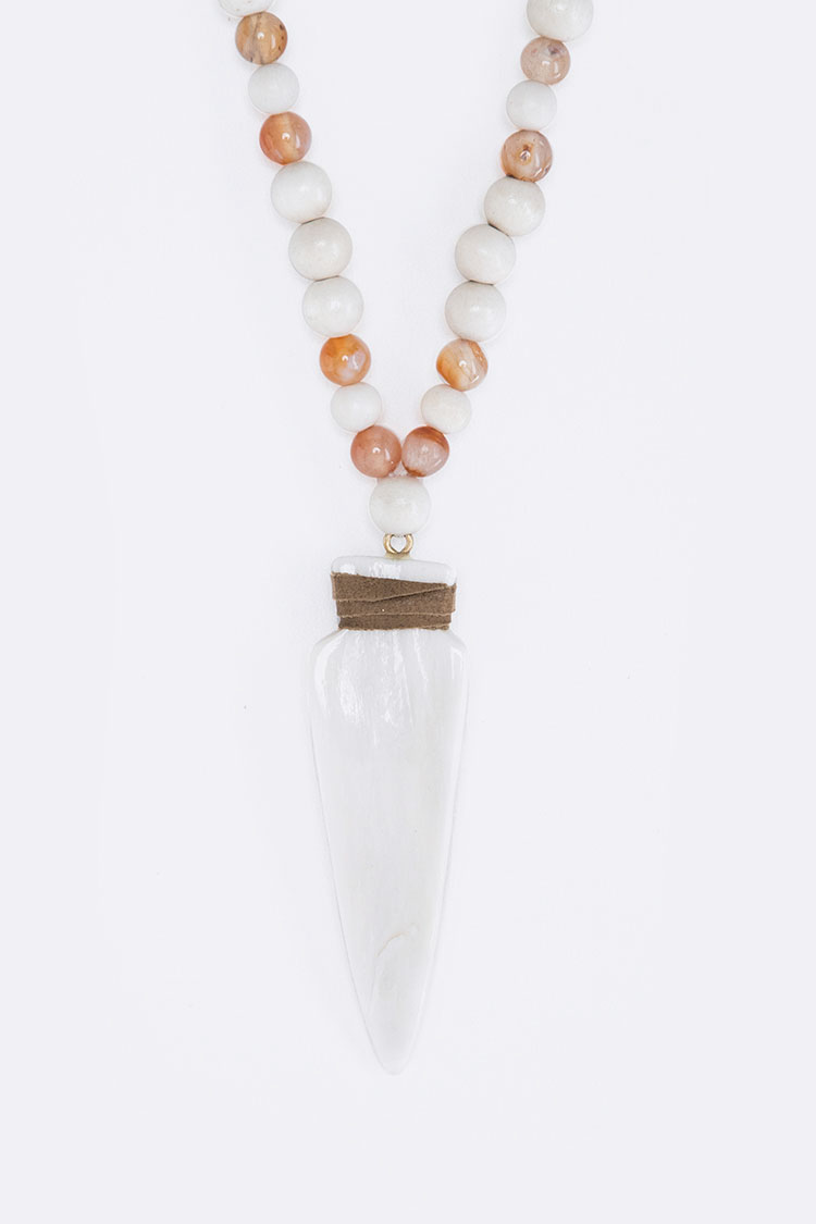 Beads & Bone Arrowhead Necklace