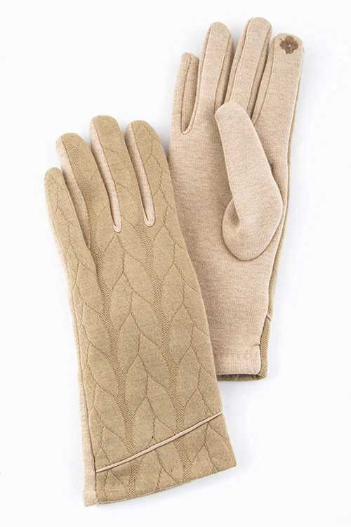 Quilted Accent I TOUCH Cotton Fashion Gloves