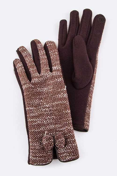 Bow Accent I TOUCH Cotton Fashion Gloves