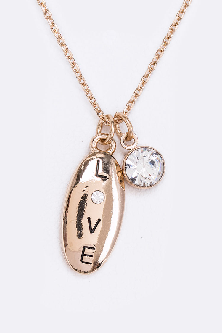 LOVE Wish In A Jar Pendant Necklace