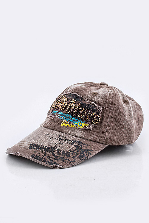 "Crystal ""Adventure"" Washed Baseball Cap"