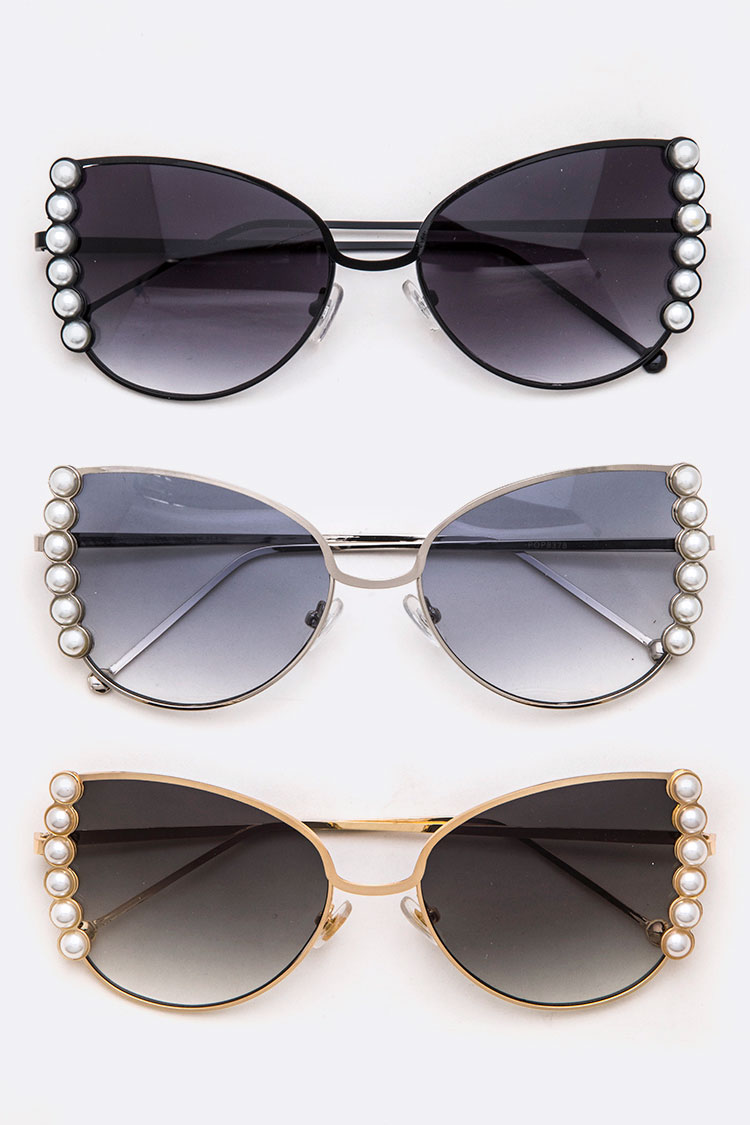 Pearl Accent Iconic Butterfly Sunglasses