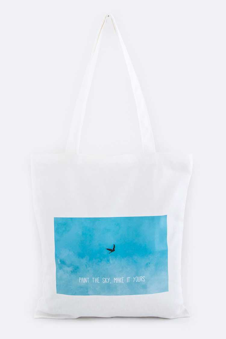 Paint The Sky Canvas Tote
