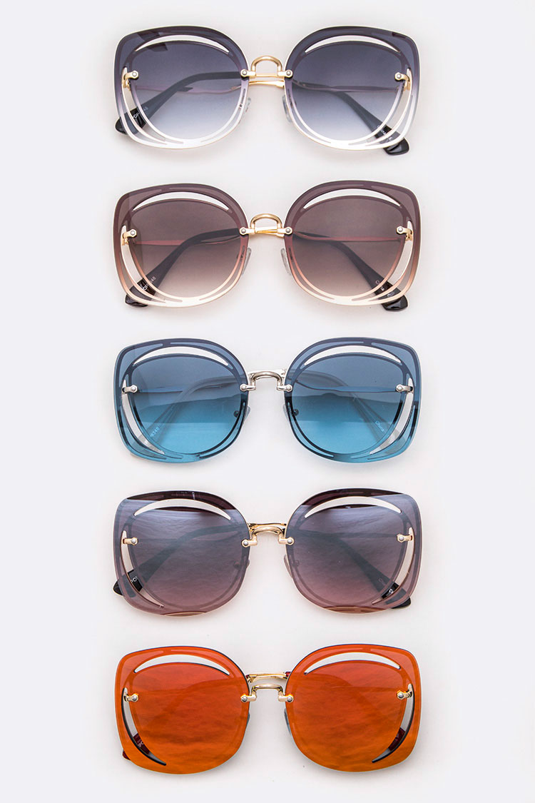 Iconic Cutout Square Sunglasses