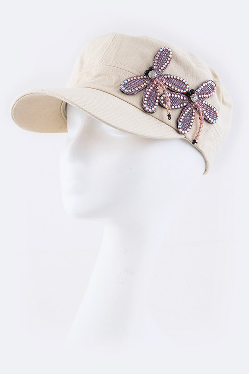 Dragonflies Fashion Military Hat