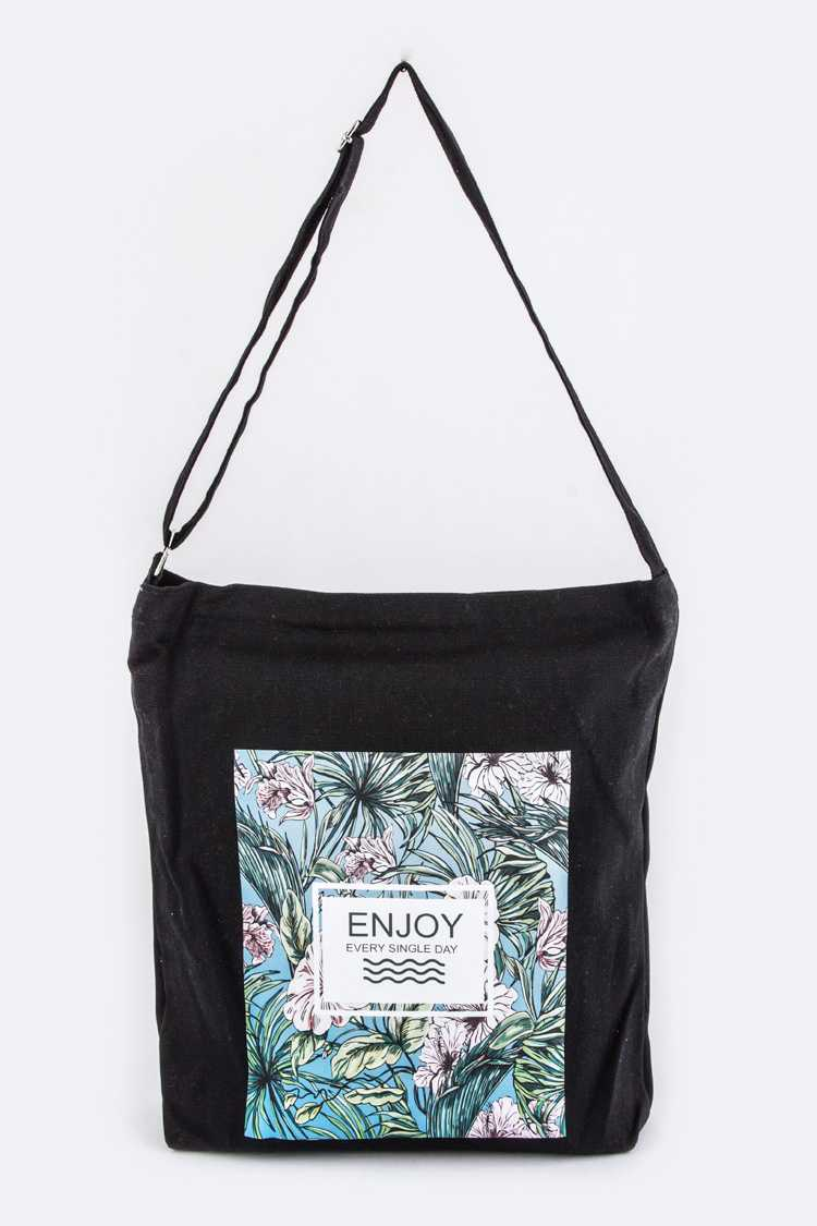 Enjoy Everyday Canvas Shoulder Bag