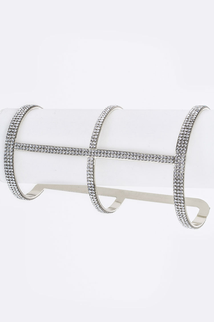 Crystal Bar Wide Bangle