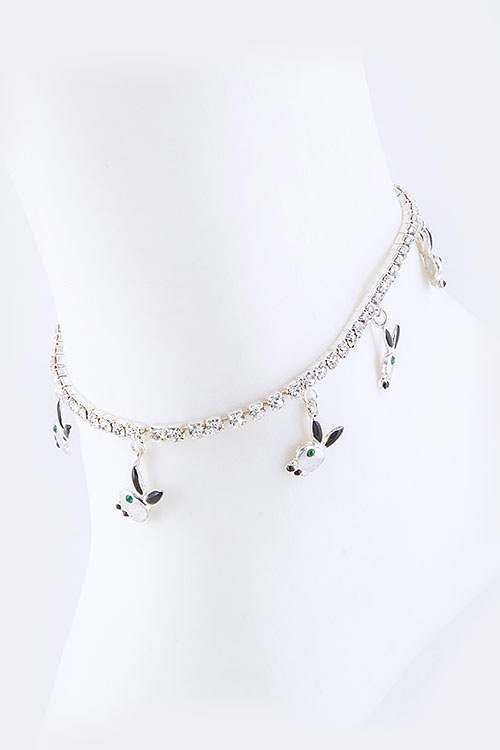 Crystal Bunny Fashion Anklet