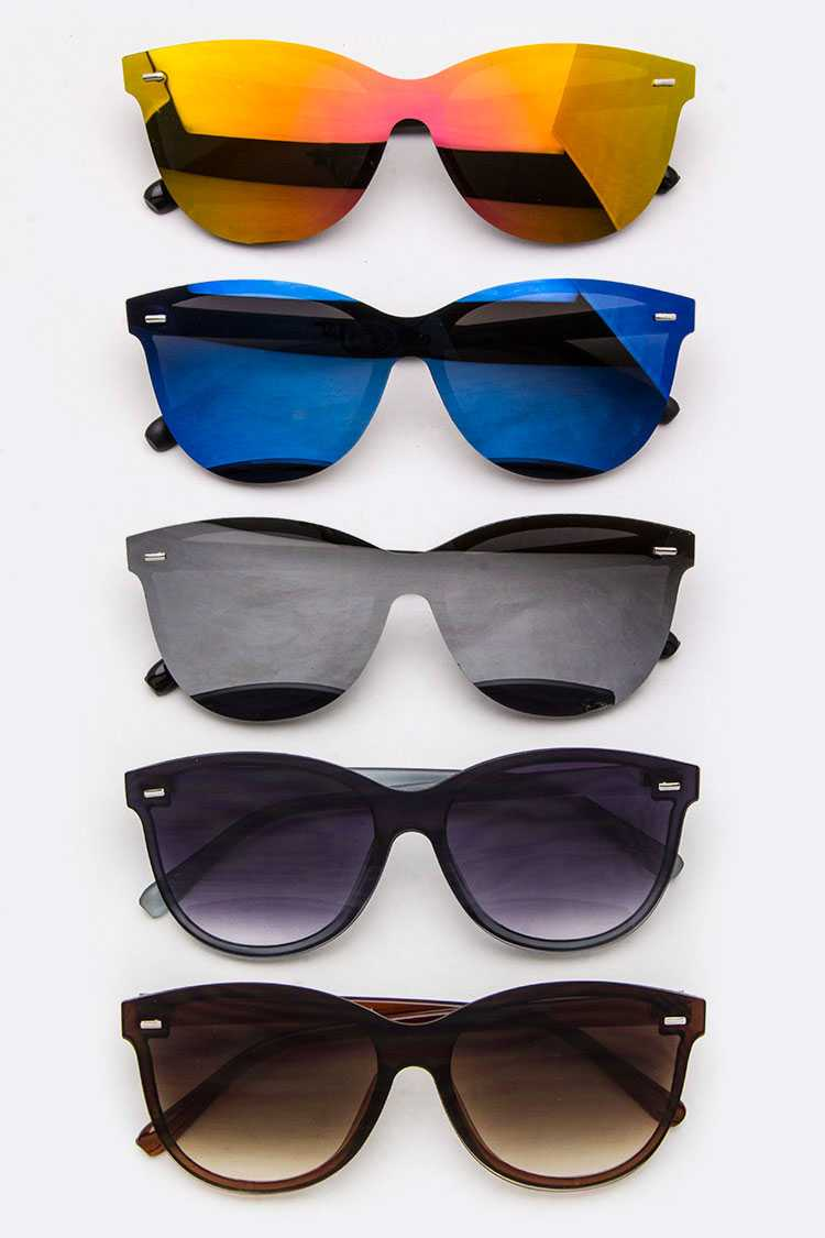 Color Mirror Shield Iconic Sunglasses