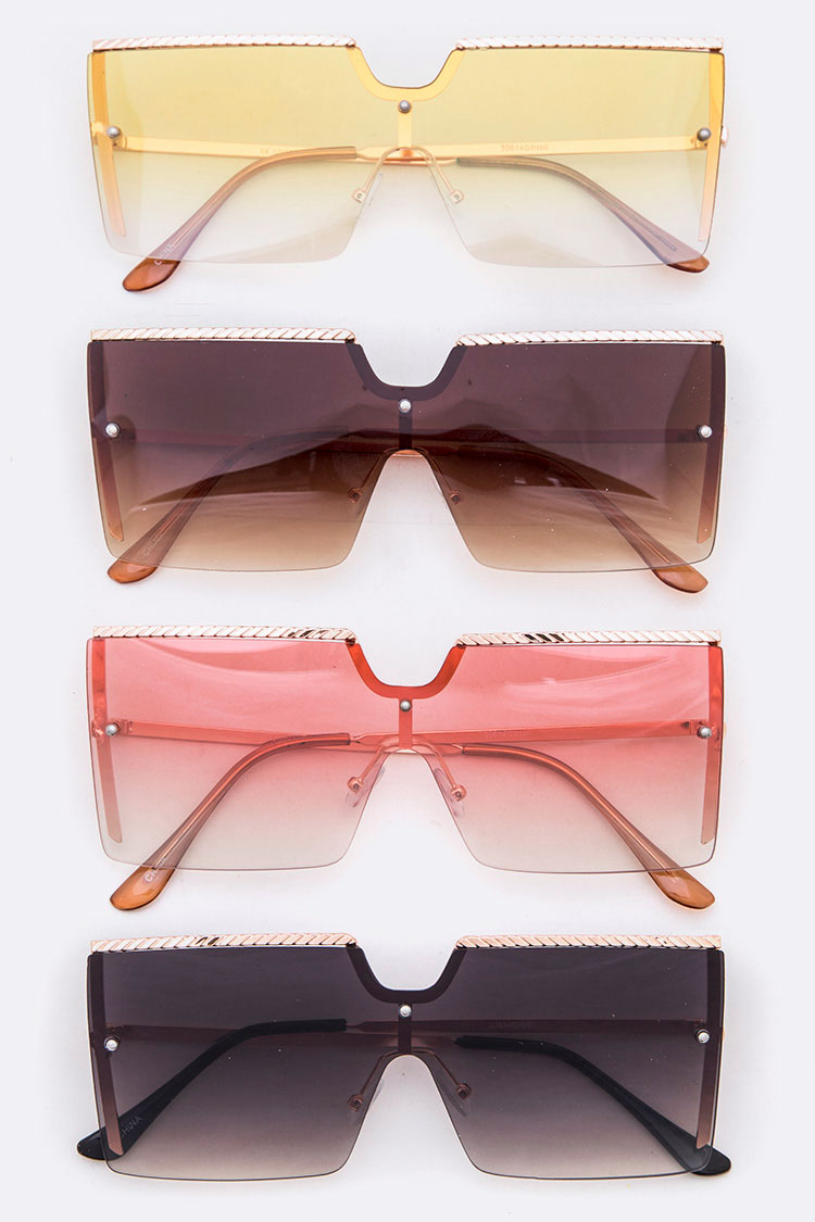 Over Size Square Uni Lens Sunglasses