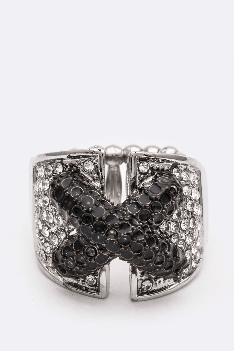 Cross Iconic Crystal Stretch Ring