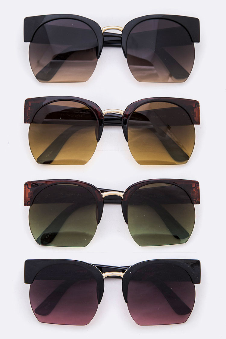 Crop Lens Iconic Oversize Sunglasses